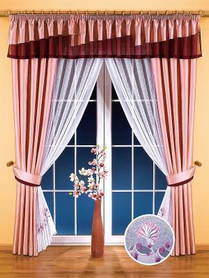 Комплект штор Wisan. Цвет: розовый