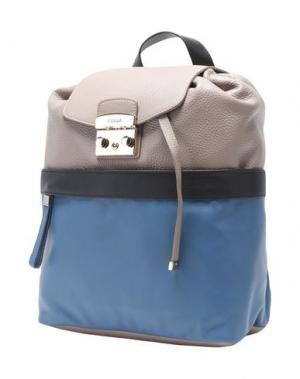 Рюкзаки и сумки на пояс FURLA. Цвет: голубиный серый