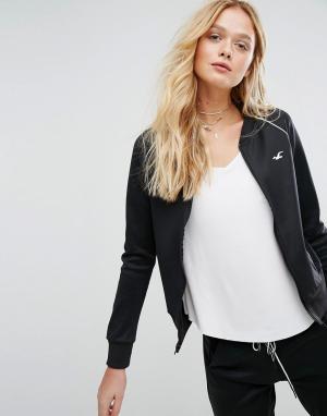 Hollister Спортивная куртка на молнии. Цвет: черный