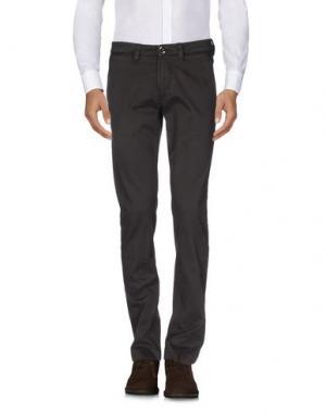 Повседневные брюки FRADI. Цвет: темно-коричневый