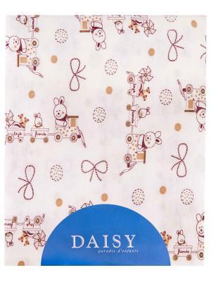 Пеленка Паровозик DAISY. Цвет: светло-коричневый, бежевый, светло-бежевый