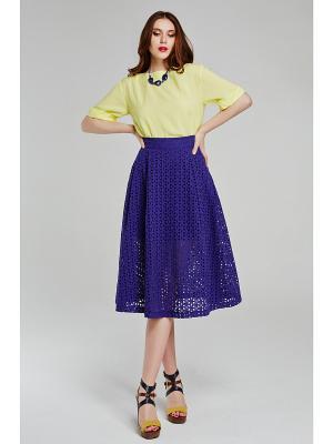 Блузка CLABIN. Цвет: желтый