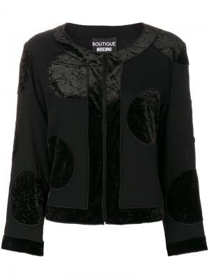 Жакет Giacca Boutique Moschino. Цвет: чёрный