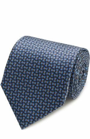 Комплект из шелкового галстука и платка Lanvin. Цвет: голубой