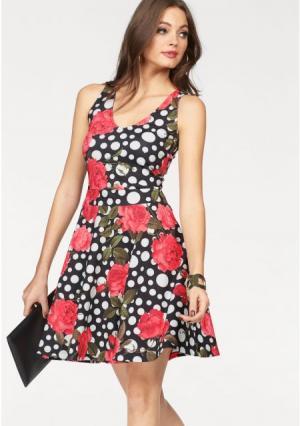 Платье MELROSE. Цвет: черный/белый/красный