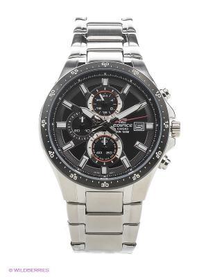 Часы EDIFICE EFR-519D-1A CASIO. Цвет: серебристый, черный