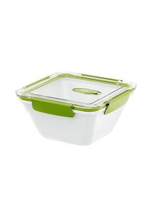 Ланч-бокс EMSA BENTO BOX 0.9л бел/зелен 513960. Цвет: белый, зеленый