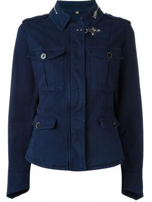 Куртка в стиле милитари Fay. Цвет: синий