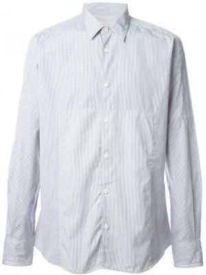 Рубашка в мелкий принт Al Duca D'Aosta 1902. Цвет: серый