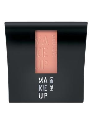 Румяна матовые компактные Mat Blusher №14, оттенок розовый абрикос Make up factory. Цвет: розовый, персиковый