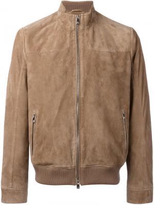 Zipped jacket Corneliani. Цвет: коричневый