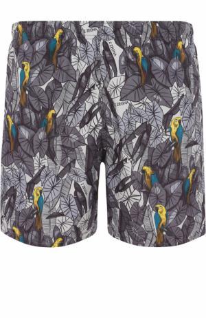 Плавки-шорты с принтом Ermenegildo Zegna. Цвет: серый