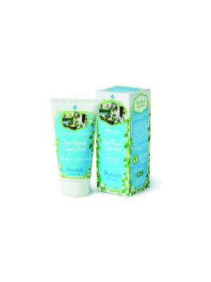 Крем для рук Белые цветы и зеленые листья(унисекс) DERBE. Цвет: голубой