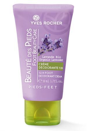 Крем-дезодорант для ног, 50 мл Yves Rocher. Цвет: none