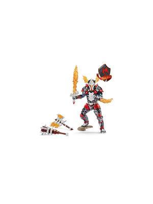 Рыцарь Драконов с оружием SCHLEICH. Цвет: красный, серый