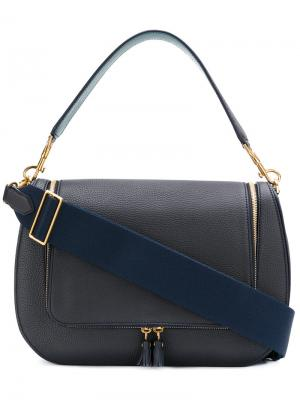 Большая сумка-сэтчел Vere Anya Hindmarch. Цвет: синий