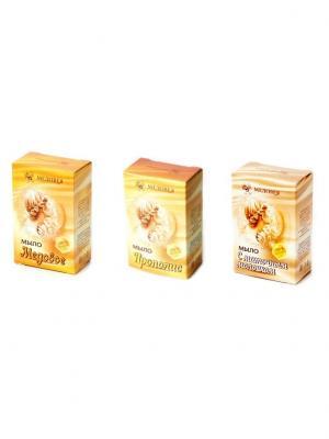 Набор мыла Медовея, прополис, маточное молочко, мед Медовея 4627106490212