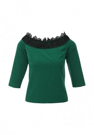 Блуза Piena. Цвет: зеленый