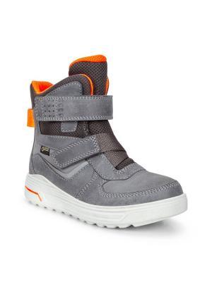 Ботинки ECCO. Цвет: серый, оранжевый