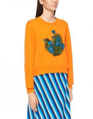 Свитшот с принтом House of Holland. Цвет: оранжевый