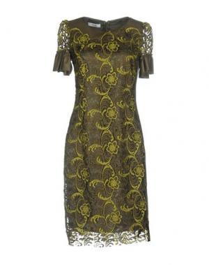 Платье до колена TENAX. Цвет: зеленый-милитари
