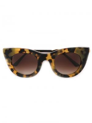 Солнцезащитные очки Divinity Thierry Lasry. Цвет: телесный