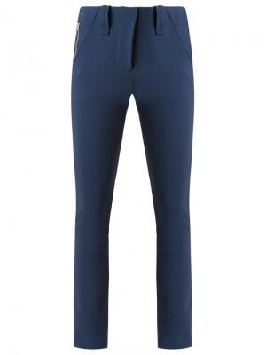 Зауженные брюки Gloria Coelho. Цвет: синий