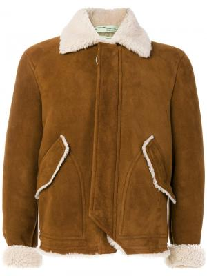 Пальто-дубленка Off-White. Цвет: коричневый