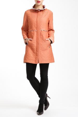 Пальто Salco. Цвет: оранжевый