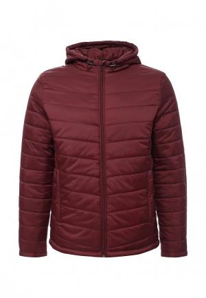 Куртка утепленная oodji. Цвет: бордовый