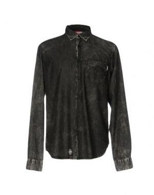 Джинсовая рубашка LOBSTER. Цвет: черный