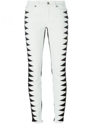 Контрастные джинсы Fausto Puglisi. Цвет: чёрный