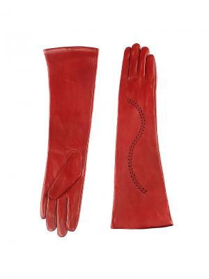 Перчатки Piero. Цвет: бордовый
