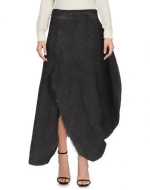 Длинная юбка UN-NAMABLE. Цвет: свинцово-серый