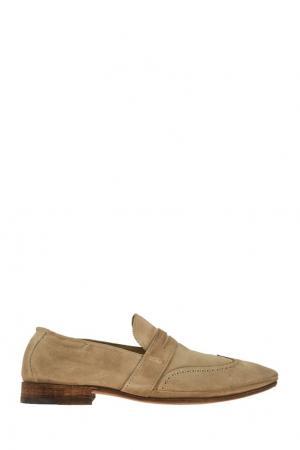 Кожаные ботинки N.d.c. Цвет: бежевый