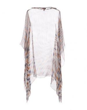 Блузка AQUASCUTUM. Цвет: коричневый