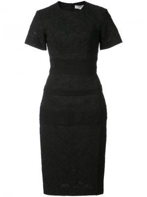 Приталенное платье с цветочным узором Lover. Цвет: чёрный