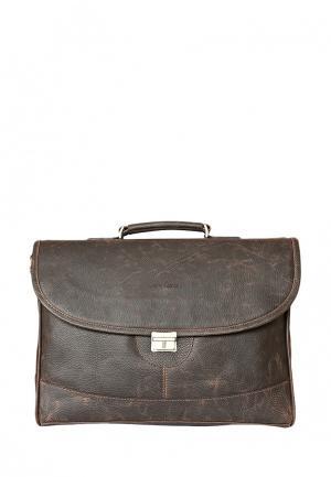 Портфель Carlo Gattini. Цвет: коричневый