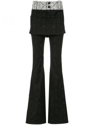 Jacquard flared trousers Andrea Bogosian. Цвет: чёрный