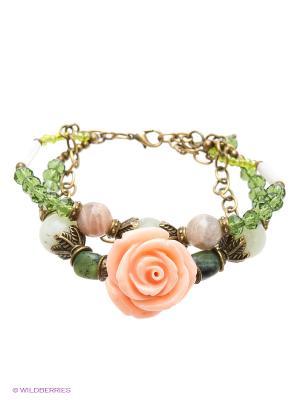 Браслет Polina Selezneva. Цвет: бежевый, розовый, белый, зеленый