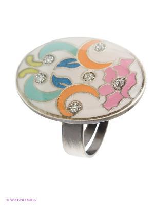 Кольцо Clara Bijoux. Цвет: бирюзовый, оранжевый, белый, розовый, желтый, голубой