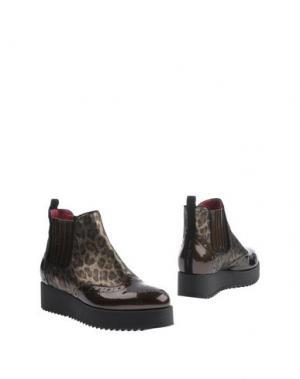 Полусапоги и высокие ботинки 181 by ALBERTO GOZZI. Цвет: бронзовый
