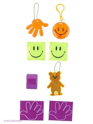 Набор светоотражающих элементовLS-OshbFhbr WIIIX. Цвет: оранжевый, фиолетовый
