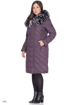 Пальто MOHNASS. Цвет: фиолетовый