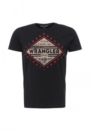 Футболка Wrangler. Цвет: черный