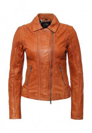 Куртка кожаная Oakwood. Цвет: разноцветный