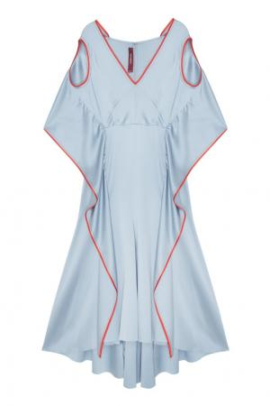 Платье из голубого шелка Sies Marjan. Цвет: голубой