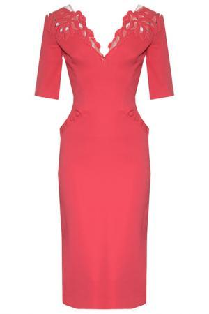 Платье Zuhair Murad. Цвет: розовый