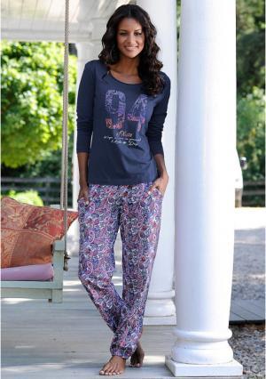 Пижама s.Oliver. Цвет: розовый с рисунком, синий с рисунком