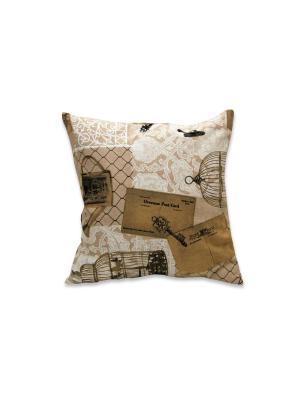 Декоративная подушка Гарден РЮШАЛЬ. Цвет: серый